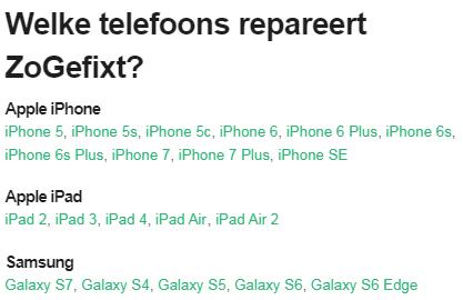 ZoGefixt.nl - Reparatie op locatie voor Telefoon en Tablet